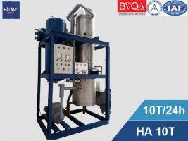 Máy làm đá viên sạch công nghiệp Hải Âu HA 10T