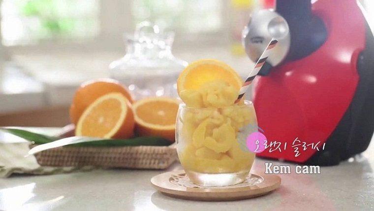 máy làm kem hoa quả