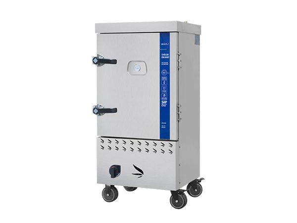 Tủ Nấu Cơm Công Nghiệp Hải Âu HAG 8 – Gas 8 Khay Với Cửa Tủ Bằng Kính Cường Lực