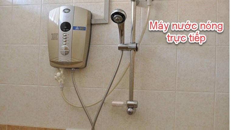 vệ sinh máy nước nóng trực tiếp