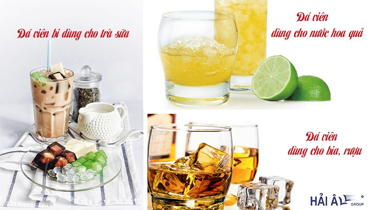 đá viên dùng cho nhiều loại đồ uống