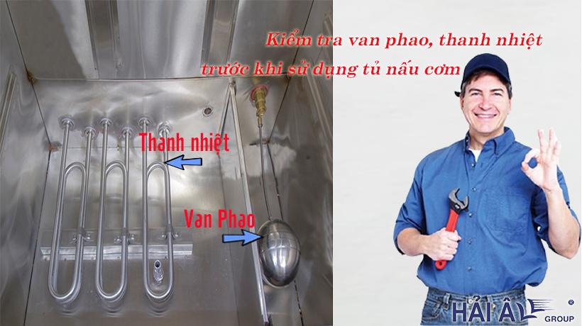 Kiểm tra tủ nấu cơm