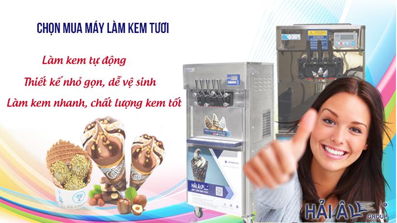 Chọn mua máy kem
