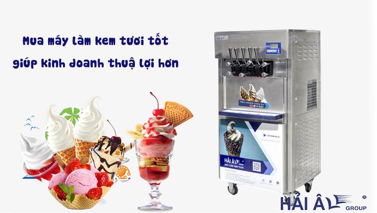 Chọn mua máy làm kem tươi