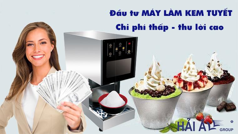 Đầu tư máy kem tuyết kinh doanh