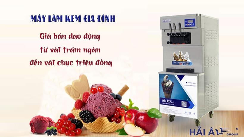 Giá máy làm kem gia đình