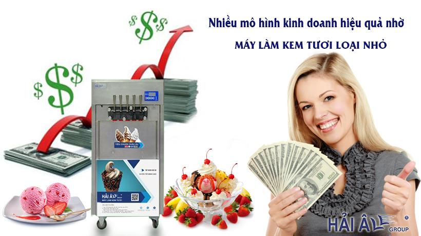 Kinh doanh với máy kem