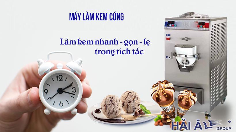Làm kem nhanh gọn