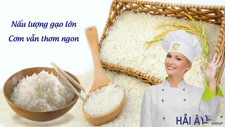 Nấu lượng gạo lớn