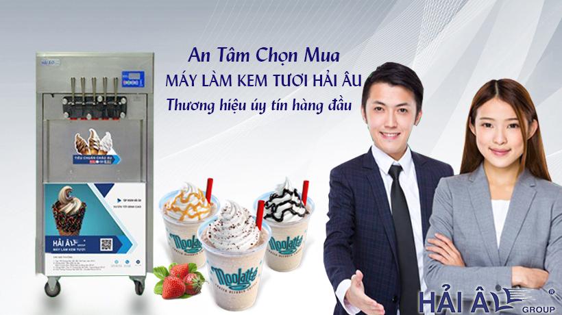 An tâm khi mua máy làm kem tươi Hải Âu