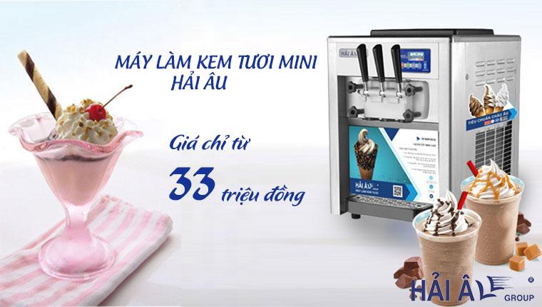 giá máy làm kem tươi mini