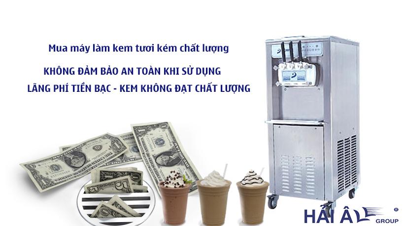 máy kem tươi chính hãng
