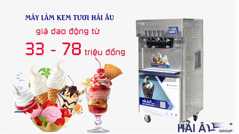 Giá máy làm kem Hải Âu