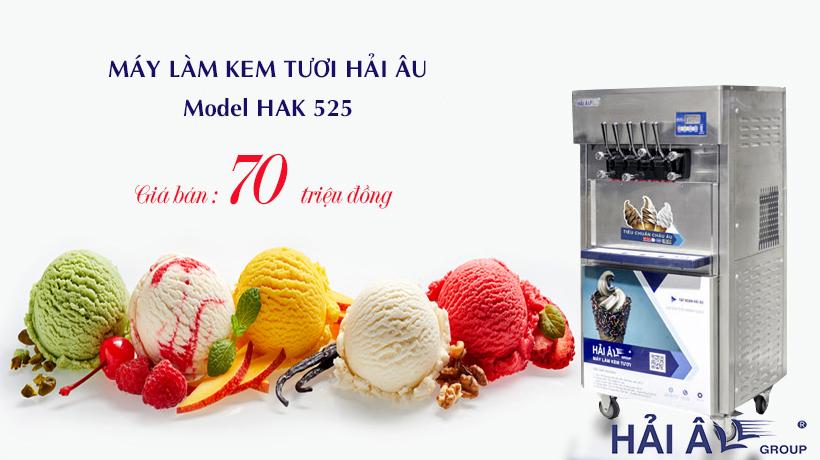 Giá máy làm kem tươi bao nhiêu