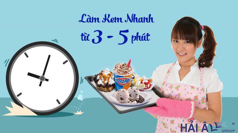 Làm kem nhanh từ 3- 5 phút