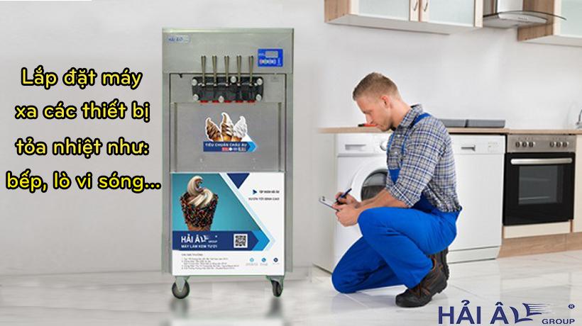 Lắp máy kem tươi đúng cách