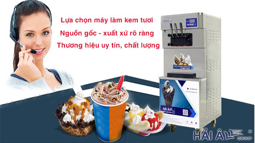 Lựa chọn máy kem chất lượng