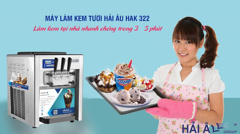 Làm kem tại nhà với máy kem