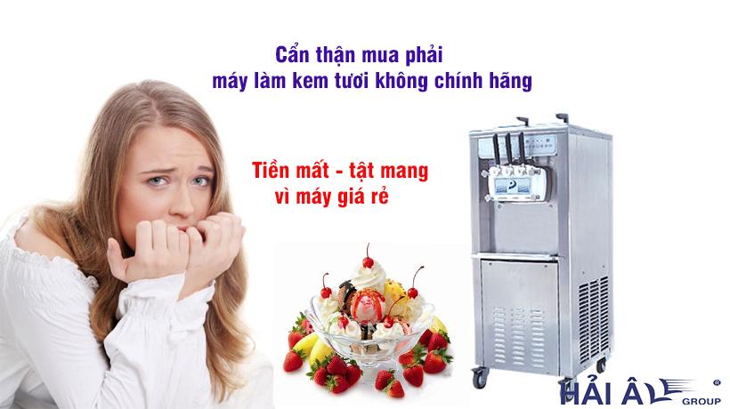 Mua máy làm kem tươi chính hãng