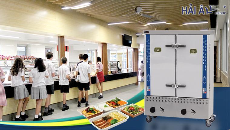 Tủ hấp cơm công nghiệp- giải pháp cho bếp ăn