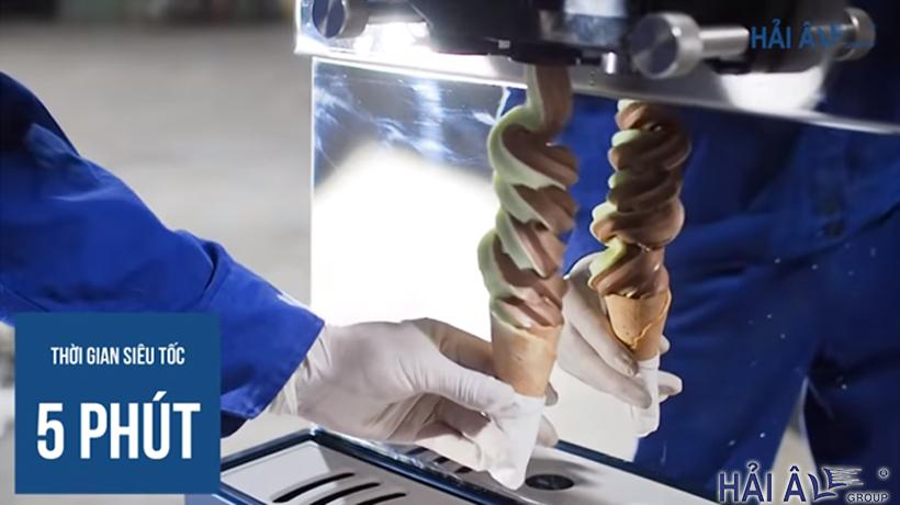 Làm kem siêu tốc với máy kem hải âu