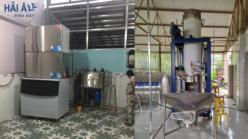 máy làm đá công nghiệp sản xuất đá sạch thương phẩm